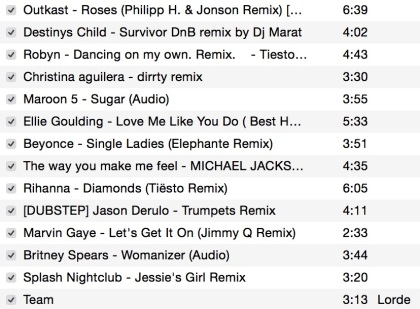 vday spin playlist